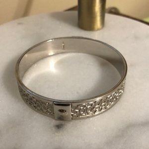 Authentic Coach Signature Silver Bracelet